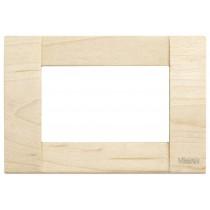 Placca Vimar Idea Classica 3 Moduli  acero legno natuale 16733.51