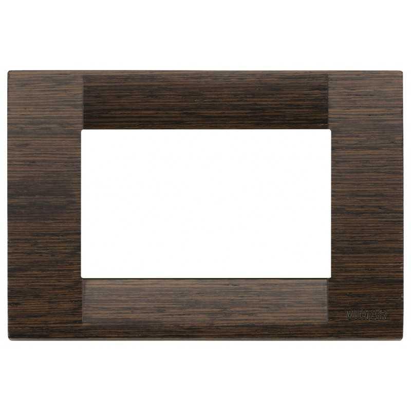 Placca Vimar Idea Classica 3 Moduli wengè legno naturale 16733.56