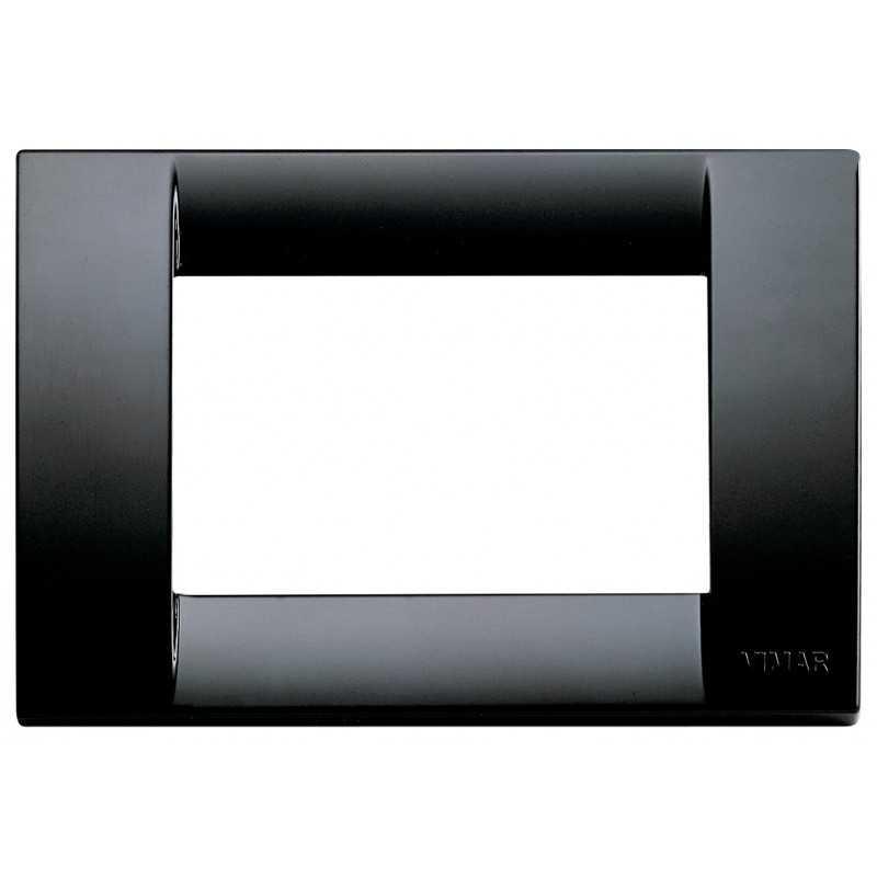 Placca Vimar Idea Classica 3 Moduli nero tecnopolimero 16743.16