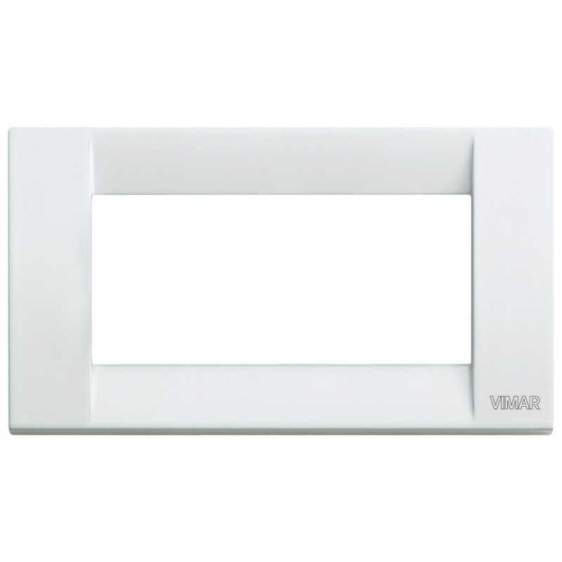 Placca Vimar Idea Classica 4 Moduli bianco in metallo 16734.01