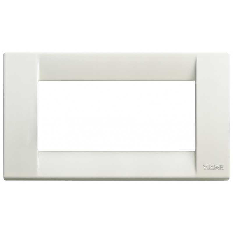 Placca Vimar Idea Classica 4 Moduli avorio metallo 16734.10