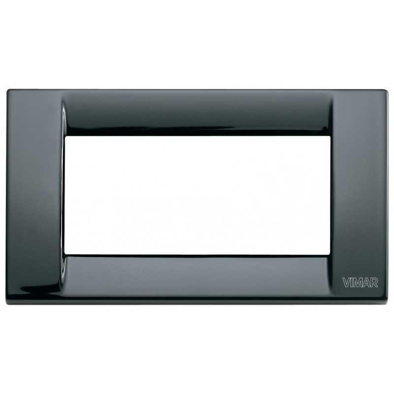 Placca Vimar Idea Classica 4 Moduli nero metallo codice 16734.11