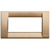 Placca Vimar Idea Classica 4 Moduli bronzo metallizzato 16734.22
