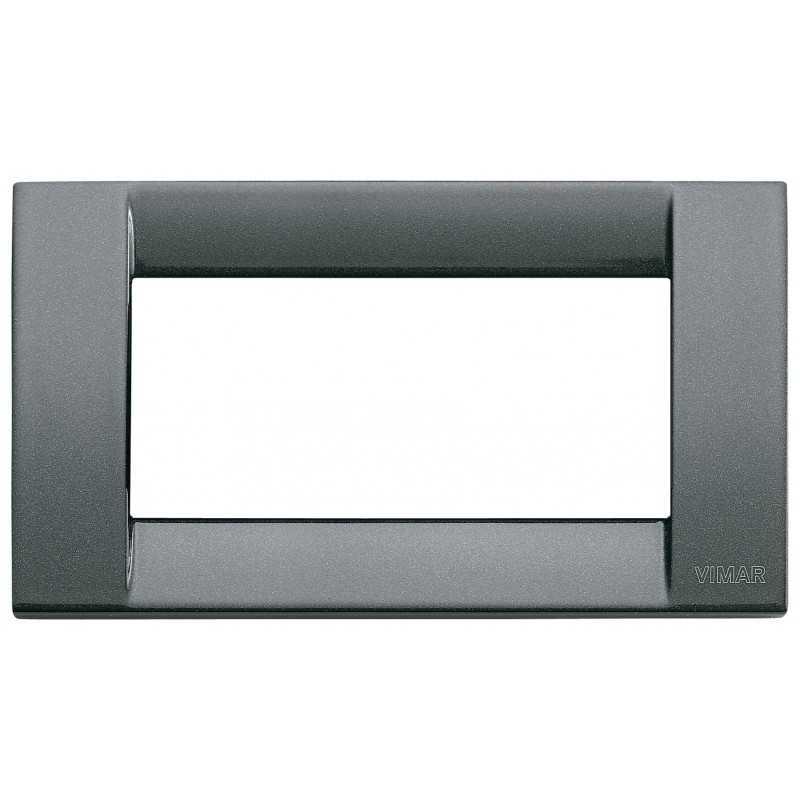 Placca Vimar Idea Classica 4 Moduli antracite metallizzato 16734.23