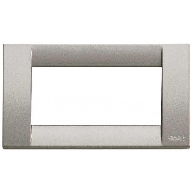 Placca Vimar Idea Classica 4 Moduli titanio metallizzato 16734.24