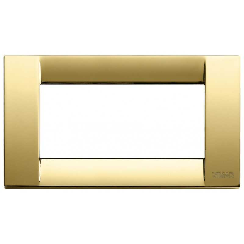 Placca Vimar Idea Classica 4 Moduli oro lucido metallo 16734.32