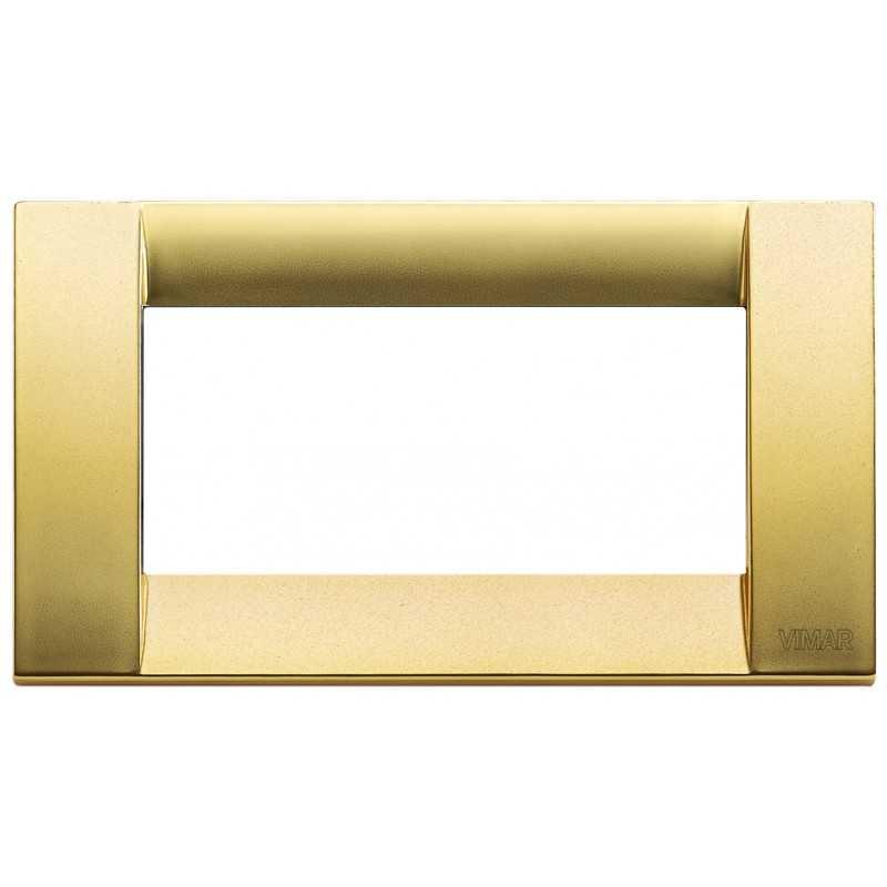 Placca Vimar Idea Classica 4 Moduli oro opaco metallo 16734.33