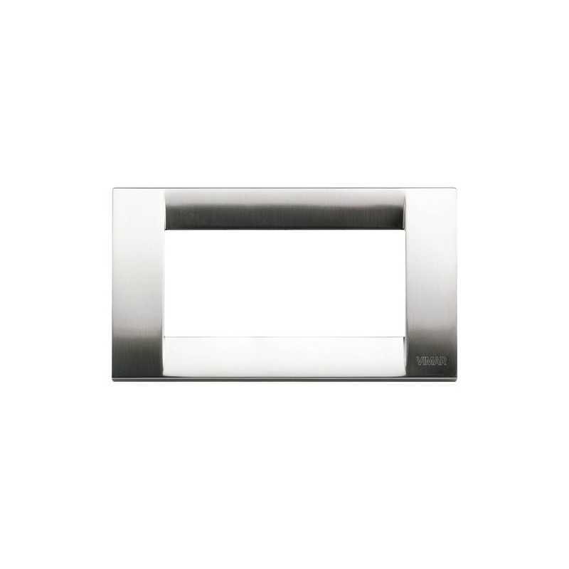 Placca Vimar Idea Classica 4 Moduli nichel spazzolato 16734.34
