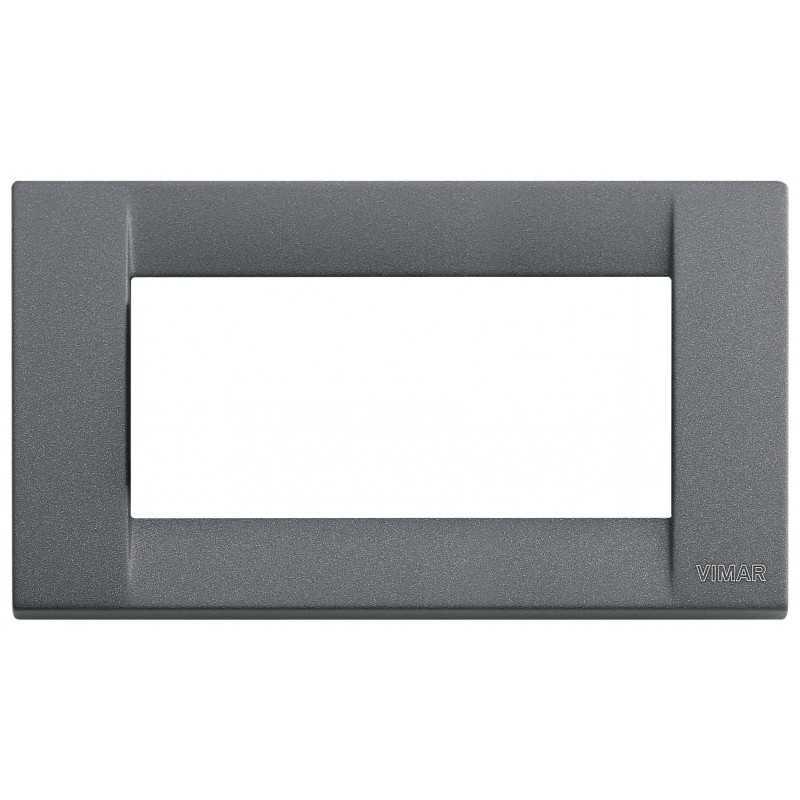 Placca Vimar Idea Classica 4 Moduli ardesia metallo 16734.46