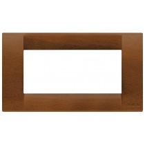 Placca Vimar Idea Classica 4 Moduli noce legno naturale 16734.55
