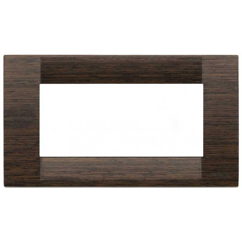 Placca Vimar Idea Classica 4 Moduli wenge' legno naturale 16734.56