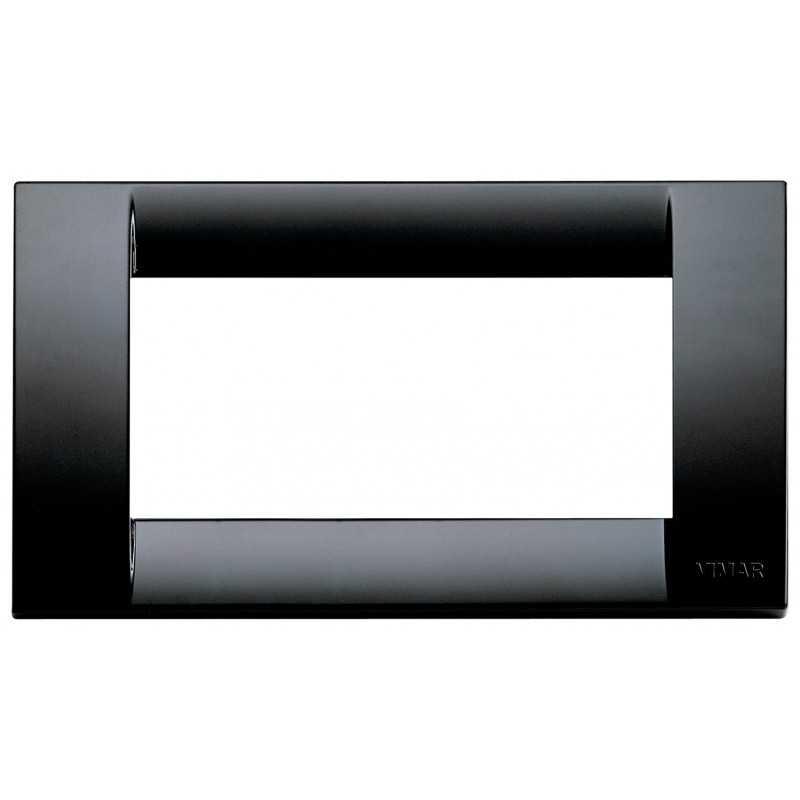 Placca Vimar Idea Classica 4 Moduli nero tecnopolimero 16744.16