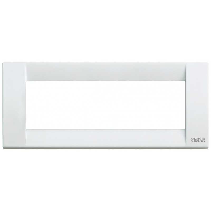 Placca Vimar Idea Classica 6 Moduli bianco metallo 16736.01