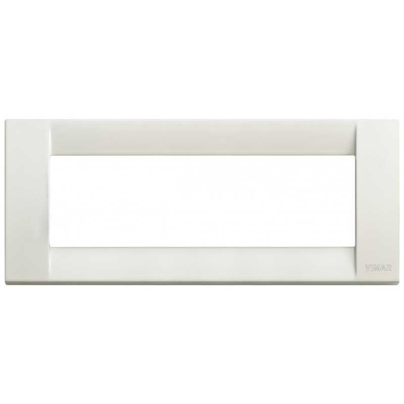 Placca Vimar Idea Classica 6 moduli avorio metallo 16736.10