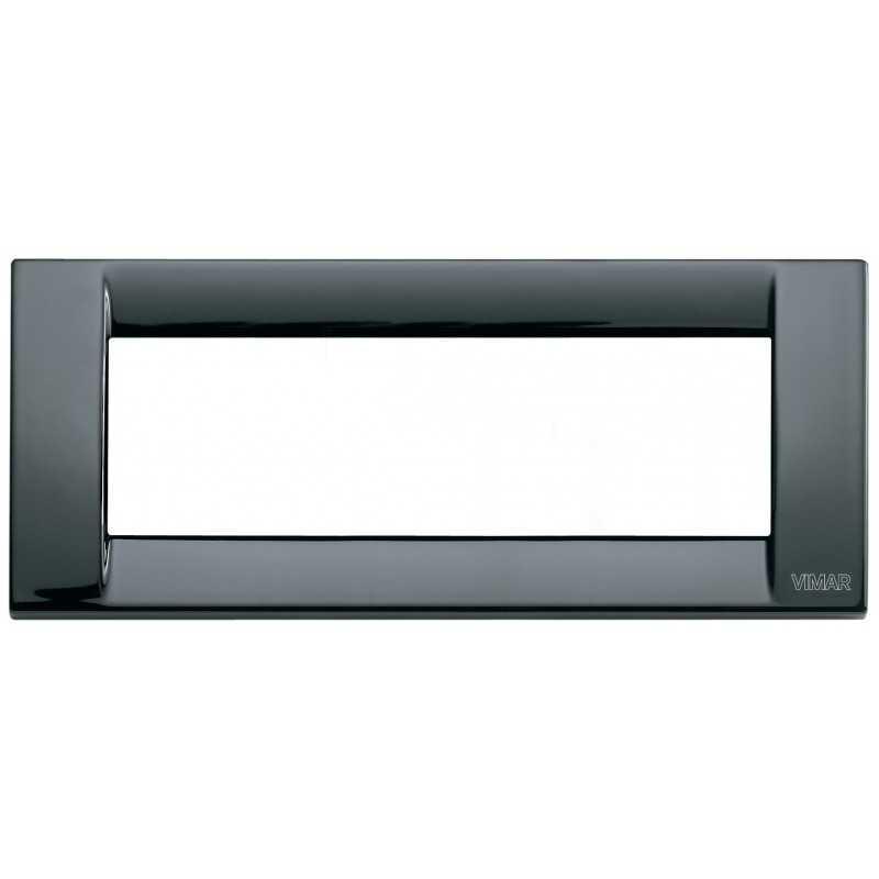 Placca Vimar Idea Classica 6 Moduli nero in metallo 16736.11