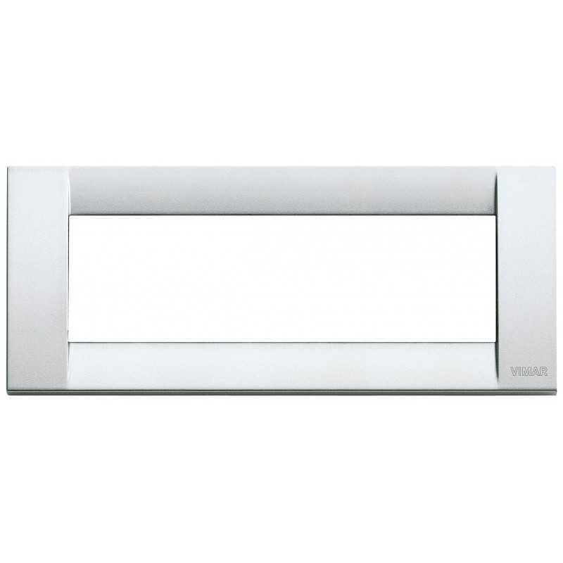 Placca Vimar Idea Classica 6 Moduli argento metallizzato 16736.21