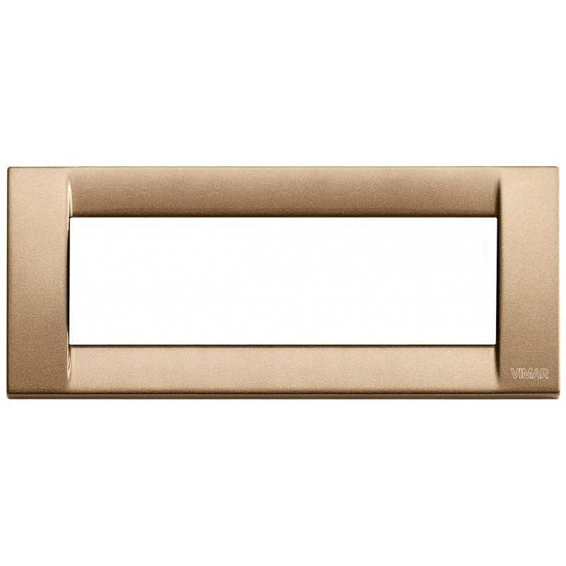 Placca Vimar Idea Classica 6 Moduli bronzo metallizzato 16736.22
