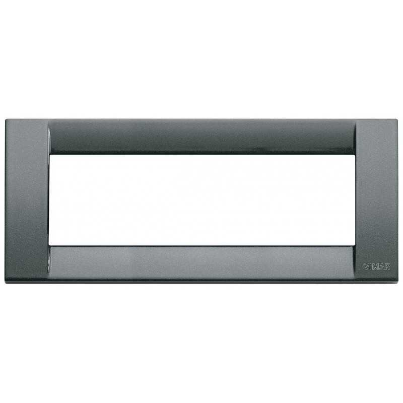 Placca Vimar Idea Classica 6 Moduli antracite metallizzato 16736.23