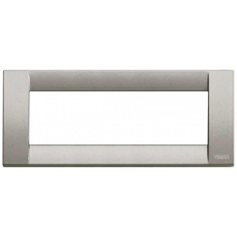 Placca Vimar Idea Classica 6 Moduli titanio metallizzato 16736.24