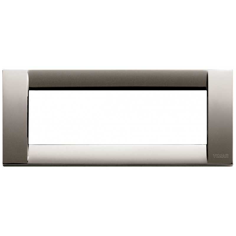 Placca Vimar Idea Classica 6 Moduli cromo nero metallo 16736.31