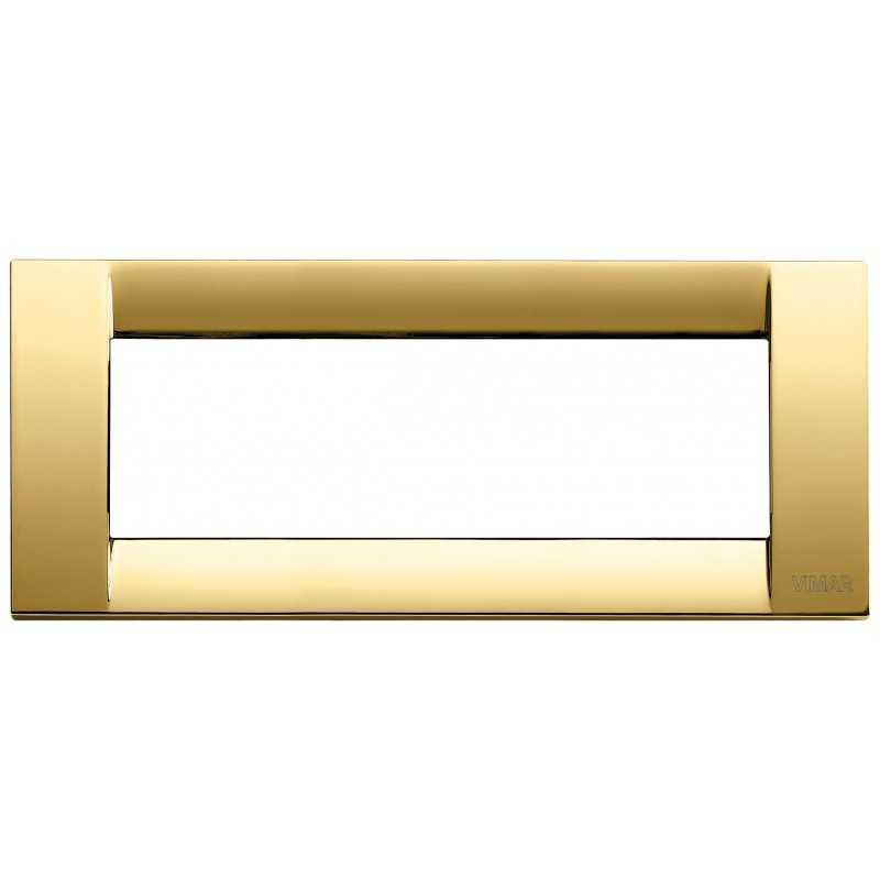 Placca Vimar Idea Classica 6 Moduli oro lucido metallo 16736.32