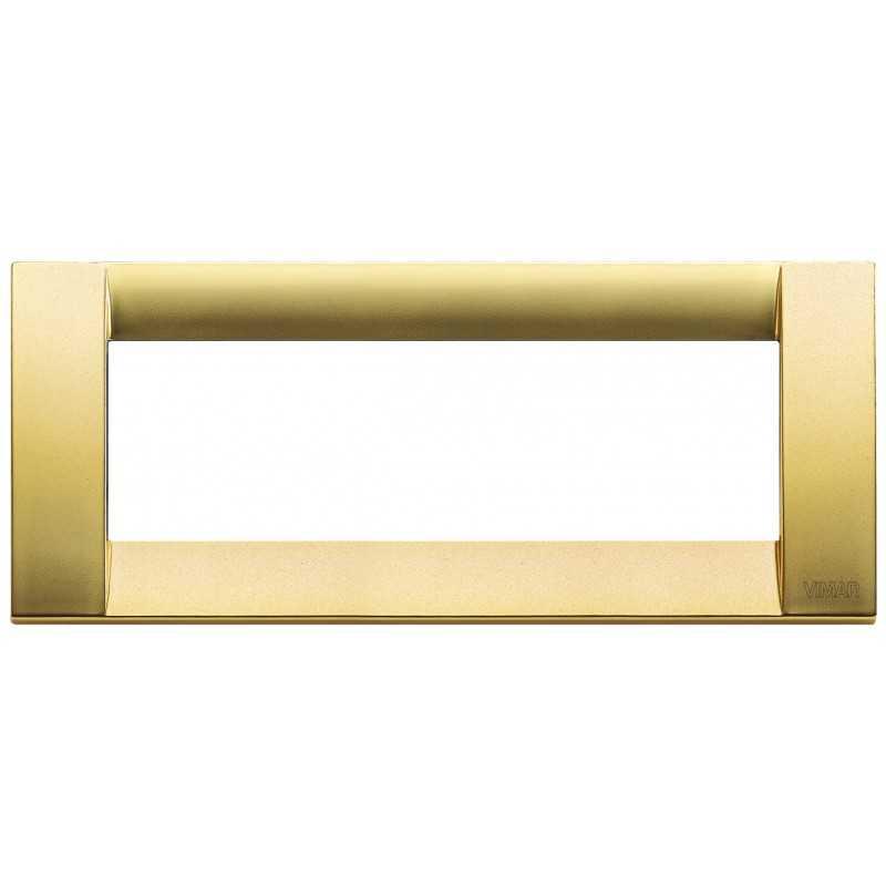 Placca Vimar Idea Classica 6 Moduli oro opaco metallo 16736.33