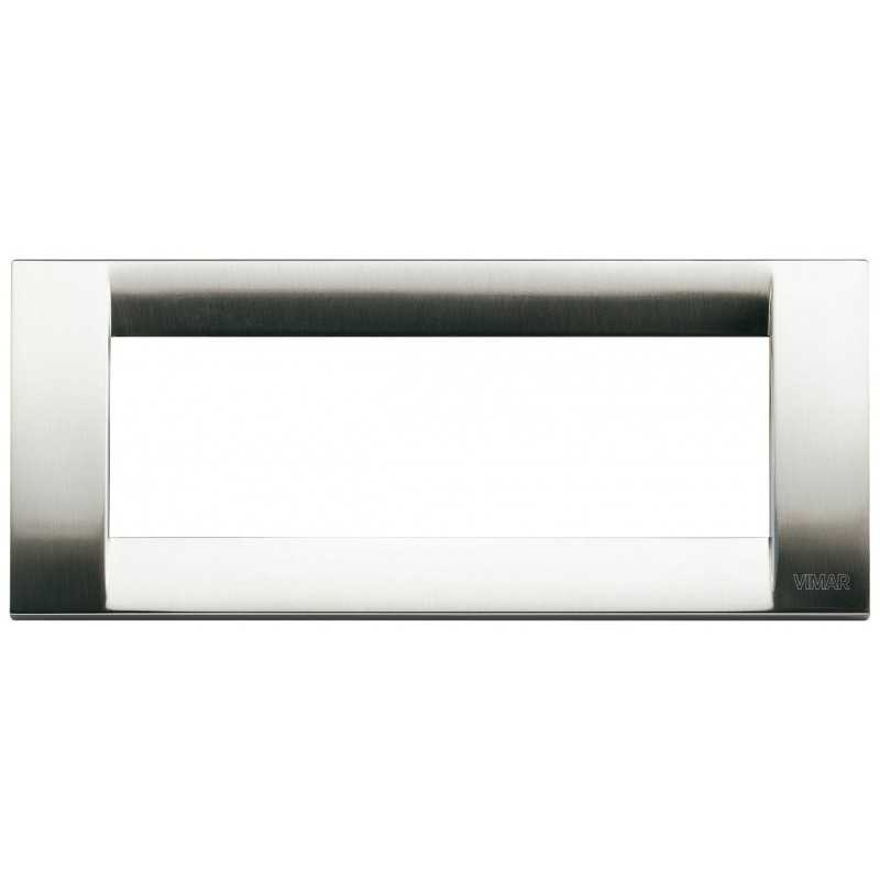 Placca Vimar Idea Classica 6 Moduli  nichel spazzolato 16736.34
