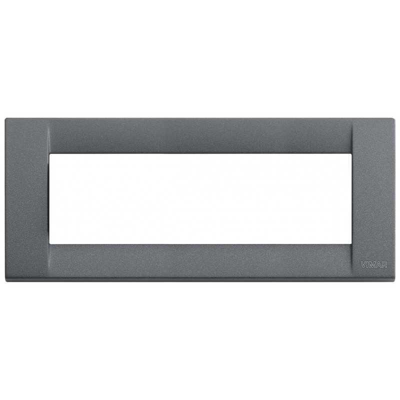 Placca Vimar Idea Classica 6 Moduli ardesia metallo 16736.46