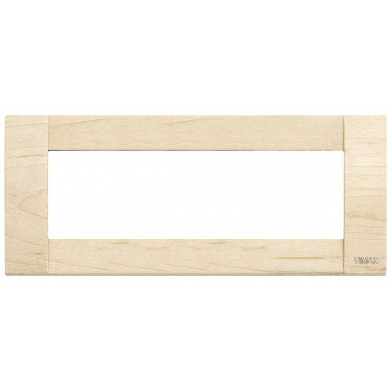 Vimar Idea Placca Classica 6 Moduli acero legno natuarale 16736.51