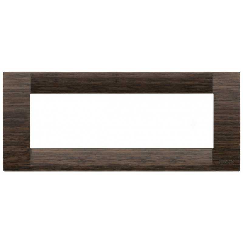 Placca Vimar Idea Classica 6 Moduli wenge' legno naturale 16736.56