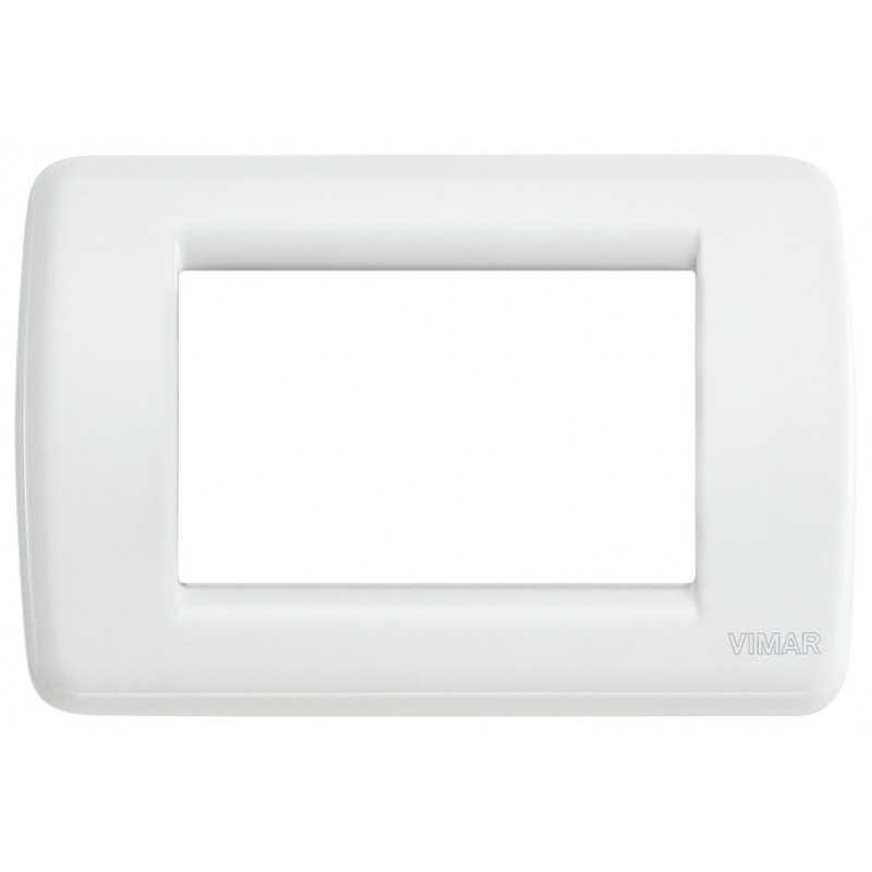 Placca Vimar Idea Rondo' 3 Moduli bianco in metallo 16753.01
