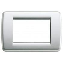Placca Vimar Idea Rondo' 3 Moduli argento metallizzato 16753.21