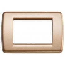 Placca Vimar Idea Rondo' 3 Moduli bronzo metallizzato 16753.22