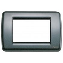 Placca Vimar Idea Rondo' 3 Moduli antracite metallizzato 16753.23