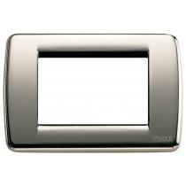 Placca Vimar Idea Rondo' 3 Moduli cromo nero metallo 16753.31