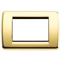 Placca Vimar Idea Rondo' 3 Moduli oro lucido metallo 16753.32