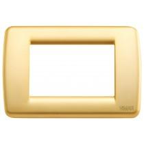 Placca Vimar Idea Rondo' 3 Moduli oro opaco metallo 16753.33