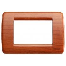 Placca Vimar Idea Rondo' 3 Moduli ciliegio legno naturale 16753.53