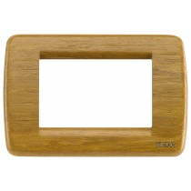 Placca Vimar Idea Rondo' 3 Moduli teak legno naturale 16753.57