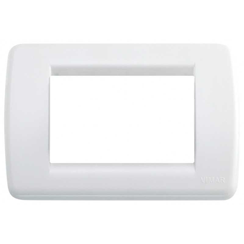 Placca Vimar Idea Rondo' 3 Moduli bianco brillante 16763.01