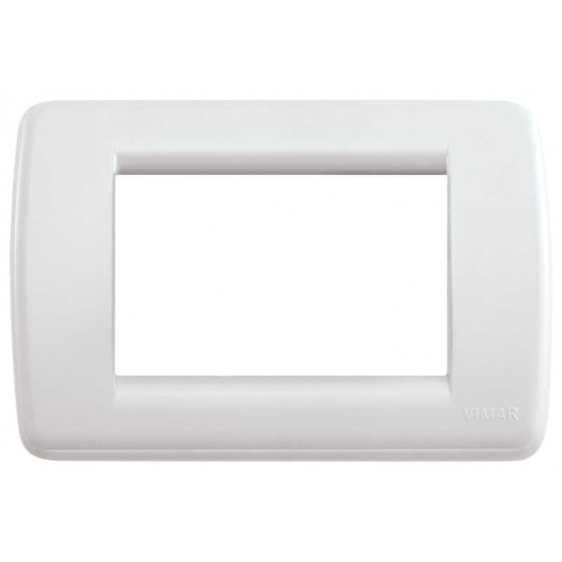 Placca Vimar Idea Rondo' 3 Moduli  colore bianco Idea 16763.04