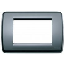 Placca Vimar Idea Rondo' 3 Moduli  grigio grafite codice 16763.15