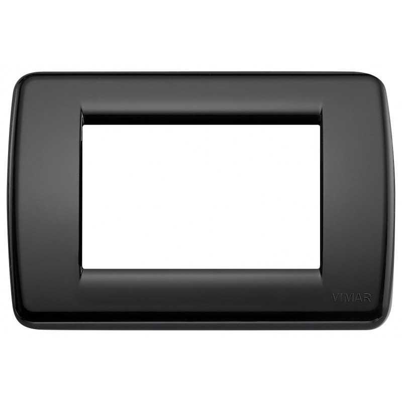 Placca  Vimar Idea Rondo' 3 Moduli nero tecnopolimero 16763.16