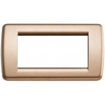 Placca Vimar Idea Rondo' 4 Moduli bronzo metallizzato 16754.22