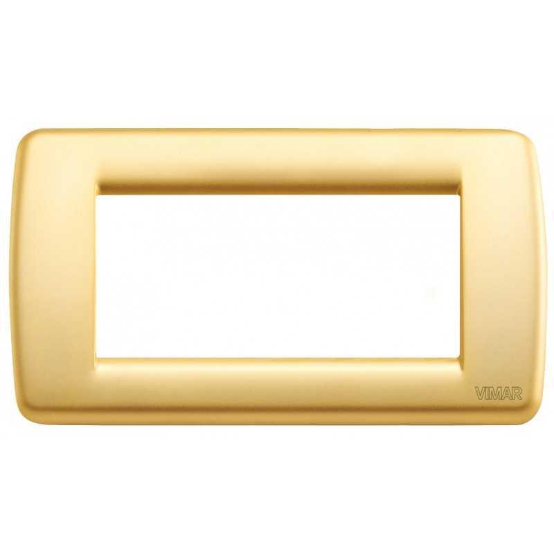 Placca Vimar Idea Rondo' 4 Moduli oro opaco metallo 16754.33
