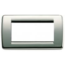 Placca Vimar Idea Rondo' 4 Moduli cromo in metallo 16754.36