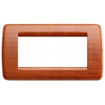 Placca Vimar Idea Rondo' 4 Moduli ciliegio legno naturale 16754.53