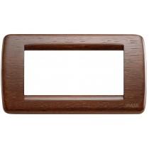 Placca Vimar Idea Rondo' 4 Moduli noce legno naturale 16754.55