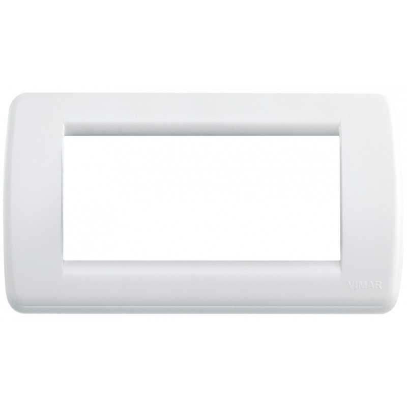 Placca Vimar Idea Rondo' 4 Moduli bianco brillante 16764.01