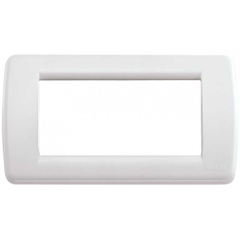 Placca Vimar Idea Rondo' 4 Moduli bianco Idea codice 16764.04